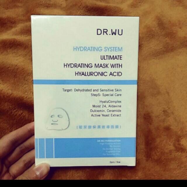 【兩盒550】dr.wu保濕微導面膜3p