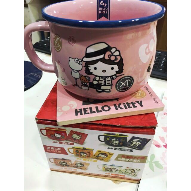 凱蒂貓粉色杯碗組