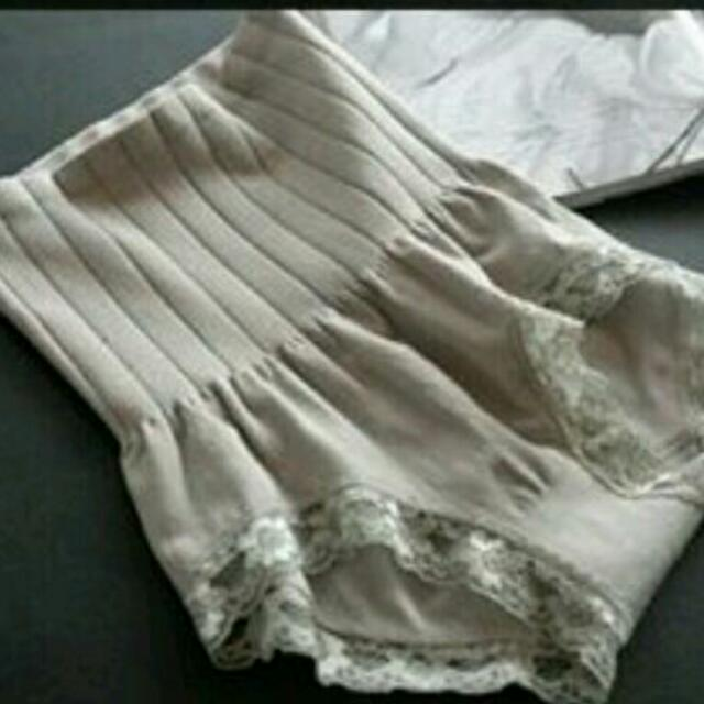 日本外貿原單高腰收腹蕾絲提臀塑身褲