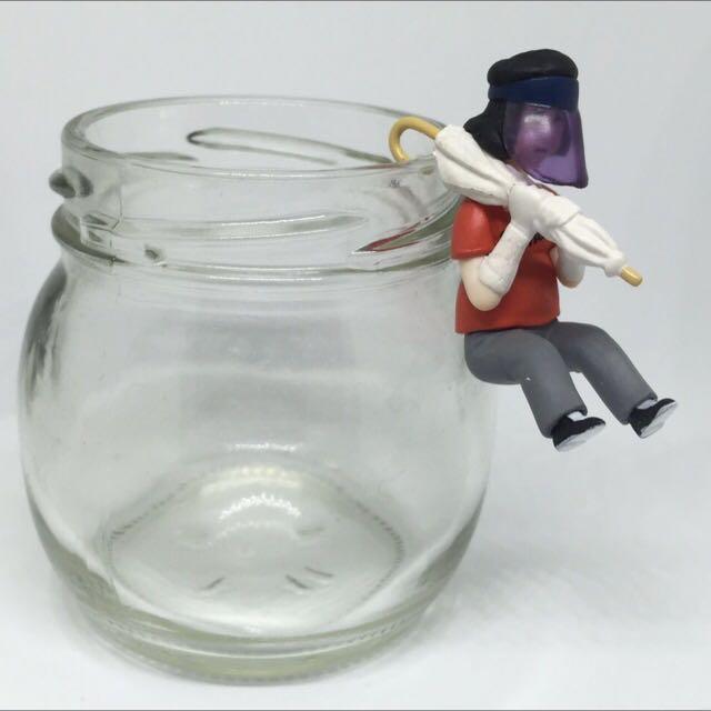 大阪歐巴桑 雨傘 杯緣子 扭蛋 關西