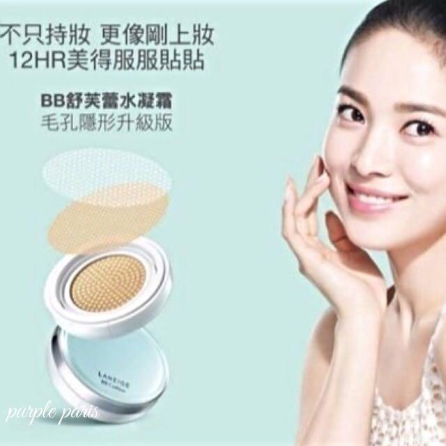 宋慧喬最愛 韓國原裝 蘭芝BB舒芙蕾水凝霜 氣墊粉餅毛孔隱形升級版 補充蕊 SPF50/PA+++ 15g