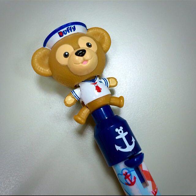 香港帶回 迪士尼文具 水手服達菲Duffy藍色原子筆
