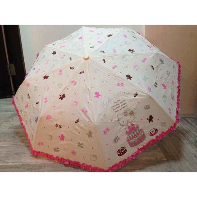 日本三麗鷗 正版 hello kitty自動摺疊傘 凱蒂貓