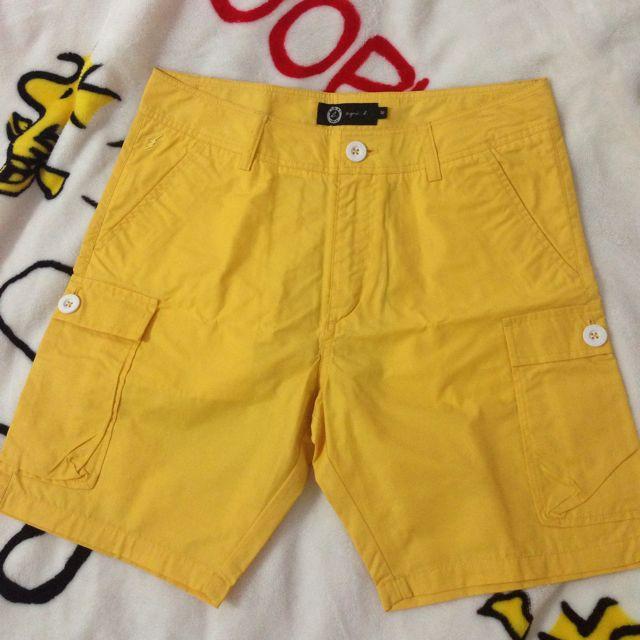 全新正品 夏日小b 黃色短褲