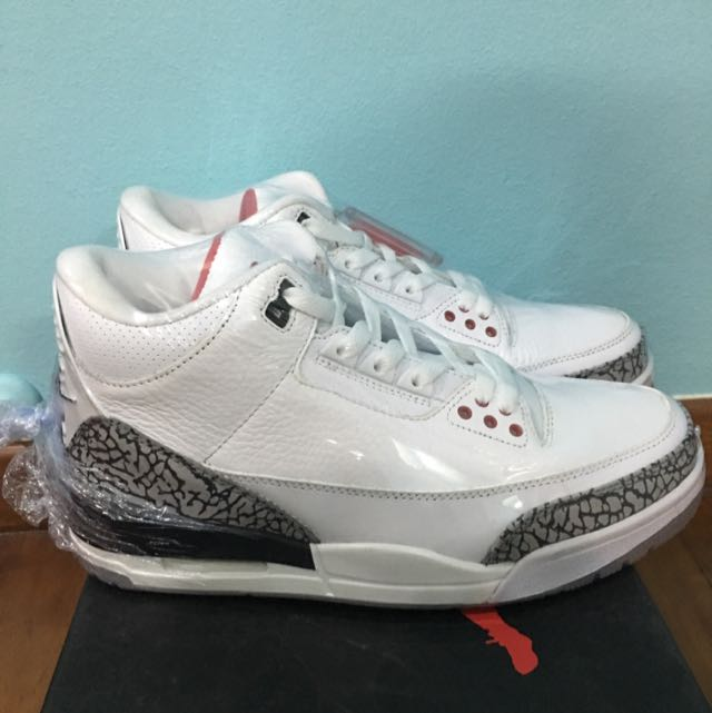 new concept 7add7 2f721 Air Jordan 3 White Cement 88 Nike Air