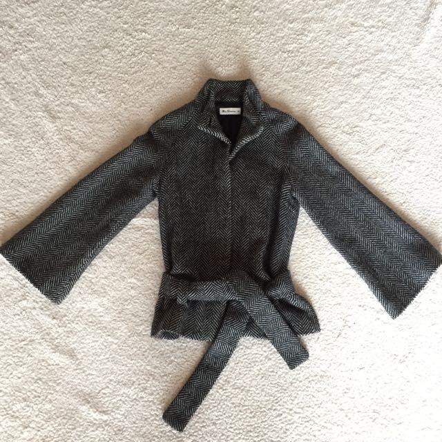 Ben Sherman Tweed Tie-Waist Coat