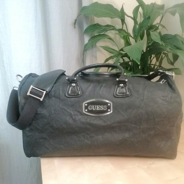Black Guess Duffel Bag