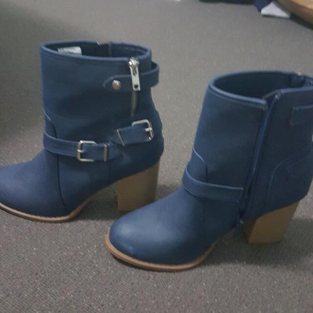Blue Boots Size 8 Brandnew