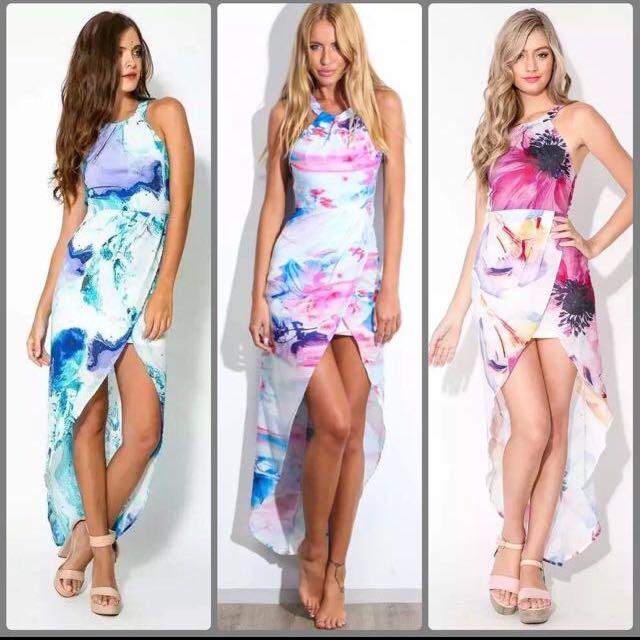 BN Indikah Inspired High Low Halter Dress Pink UK8 / 10 Medium