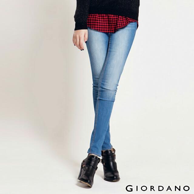 Giordano 佐丹奴 窄管彈性 牛仔褲