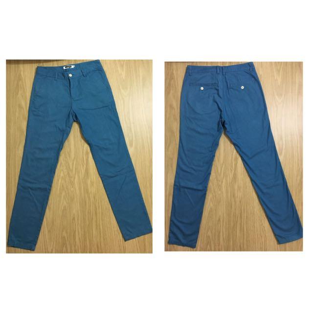 H:connect 海藍色長褲