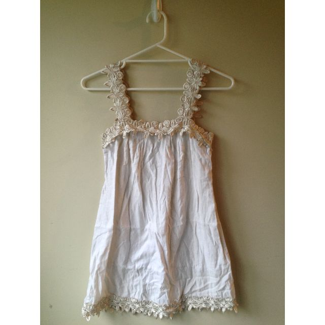 Livegirl Cream Dress