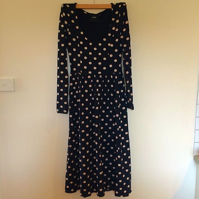 Long Sleeve Midi Dress Size 8
