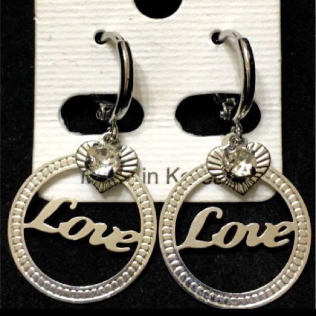 Love水鑽造型耳環