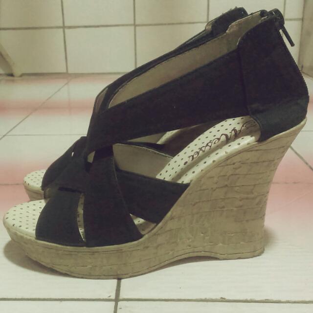 (含運)Messa素面交叉楔型涼鞋