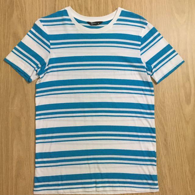 Net 天空藍橫條紋 T恤