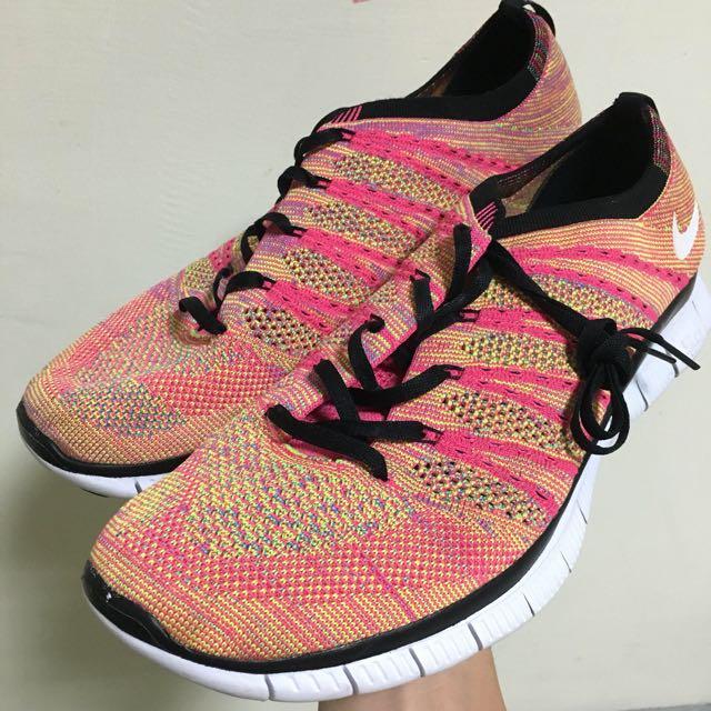 (含運)Nike Flyknit Free NSW 彩虹