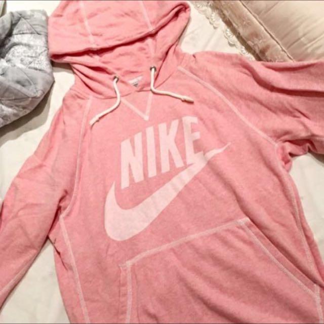 Nike Pink Hoody 帽t Adidas 粉 連帽