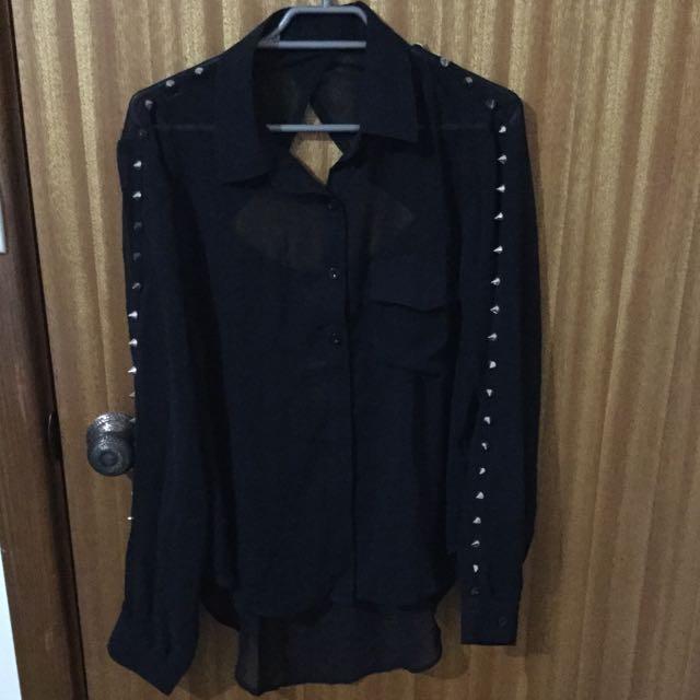 Size 10 Black Stud Top (pending)