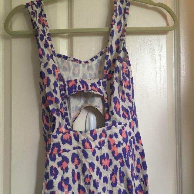 Topshop Leopard Midi Jersey Dress