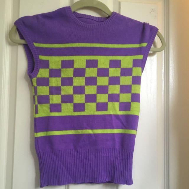 Vintage Funky Knit Vest