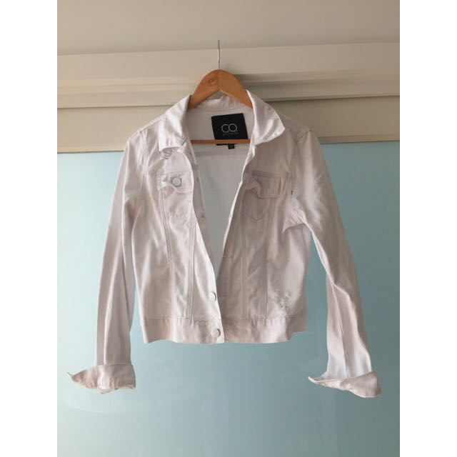 White Denim Jacket Size 10