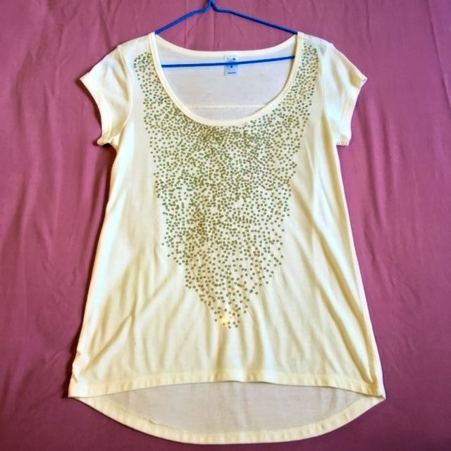 White Sequin Top