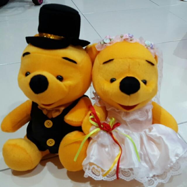 Winnie The Pooh Wedding Set, Design & Craft on Carousell