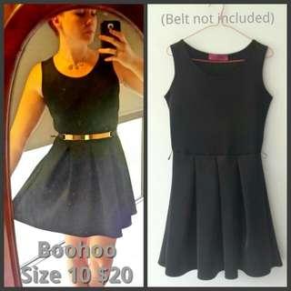 size 10 boohoo skater dress