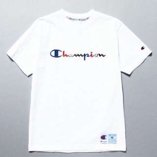 (預購7-20日)champion彩虹草寫tee