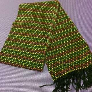 OZOC彩色點點圍巾