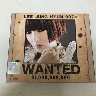 """""""Wanted $1,000,000,000"""" Music Album From Lee Jung Hyun"""