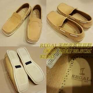 REGAL天然皮革豆豆鞋