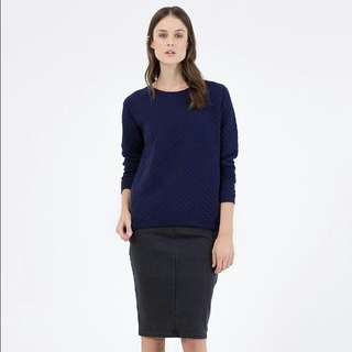Country Road Boxy Quilted Sweat