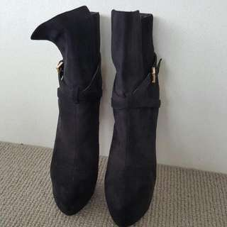 Marco Gianni Black Bootie, Size 10