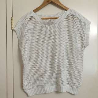 White Knitted Vest