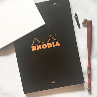 SALE! RHODIA BLACK classic calligraphy writing pad - LINED