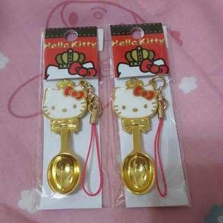 (含運)Hello Kitty 金湯匙吊飾