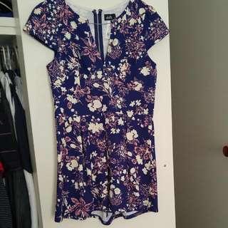 Dotti Floral Playsuit - Size 10 RRP $59.95