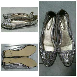 Pazzion SILVER STRAPPY FLAT