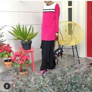 Diana Rikasari X FASHIONVALET Pink Kurung