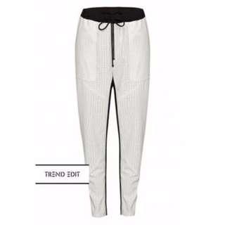 Skeike white leather pants