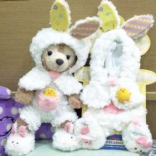 日本迪士尼🍭unibear 大學熊復活節兔兔裝💕 達菲熊S號可穿~Duffy&Shelliemay