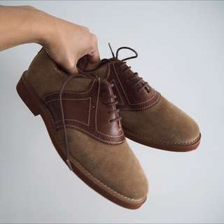 ASOS Leather And Suede Tan Shoes NEW