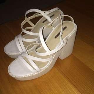 Windsor Smith White Platform Heels Posh