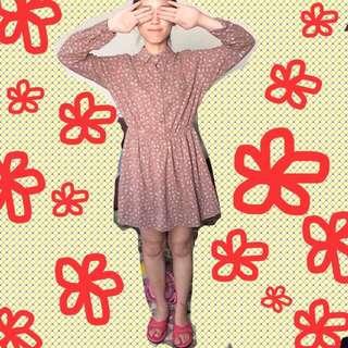 ✨全新✨復古小花洋裝