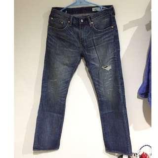 Levi's 502-0396 石洗刀割破壞牛仔褲 32腰