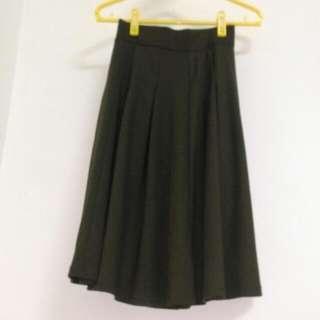 Lowrys Farm 軍綠 圓裙