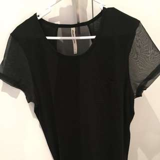 Black Tshirt Style All About Eve Top