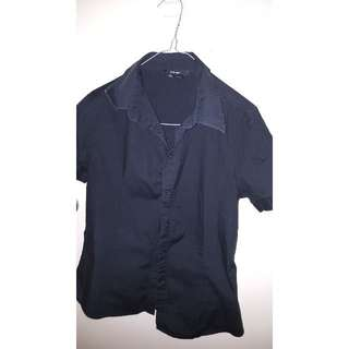 ZARA Black Short Sleeve Shirt